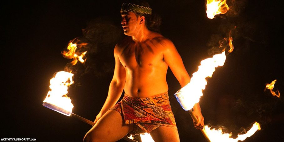 fire dancers luau