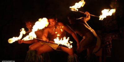 hyatt fire dancers