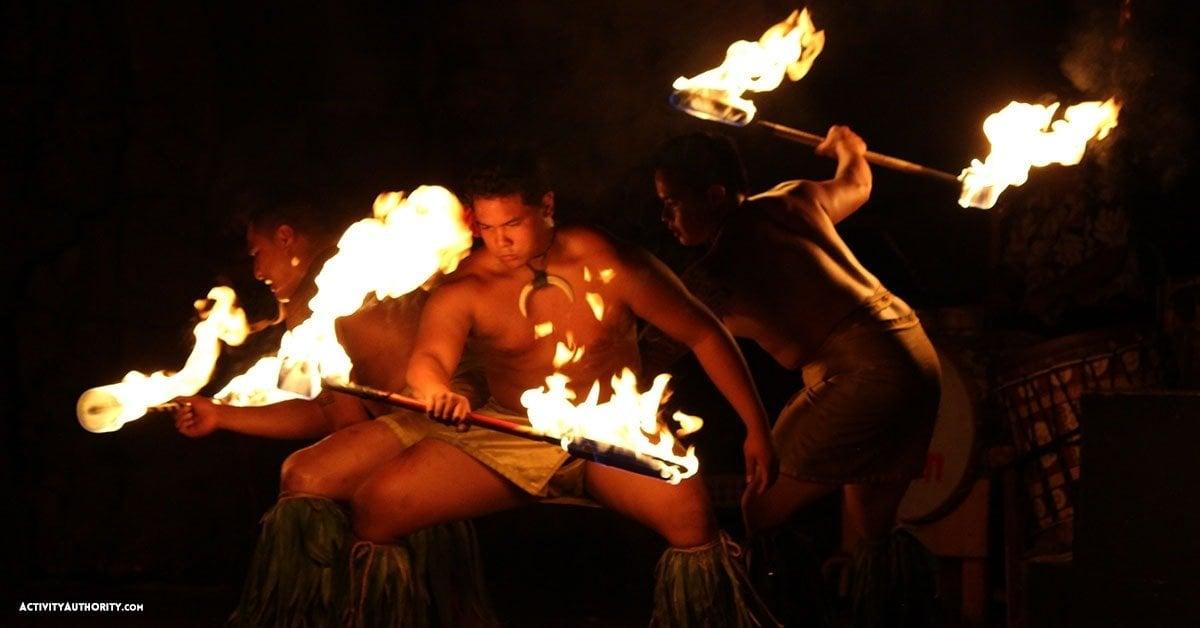 hyatt fire dancers