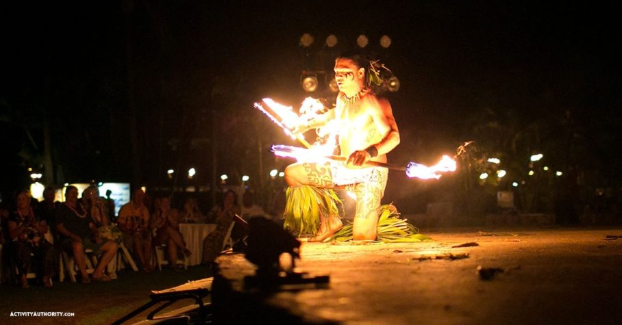 fire dancing at the Grand Wailea