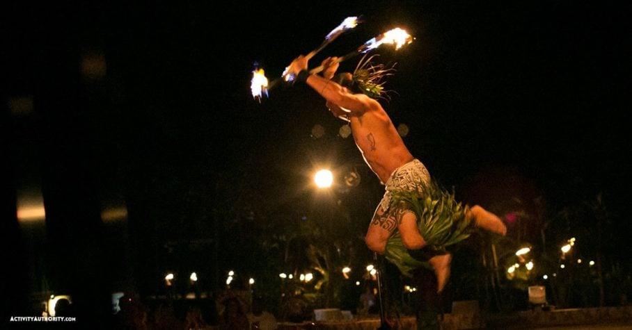 fire dancing Maui