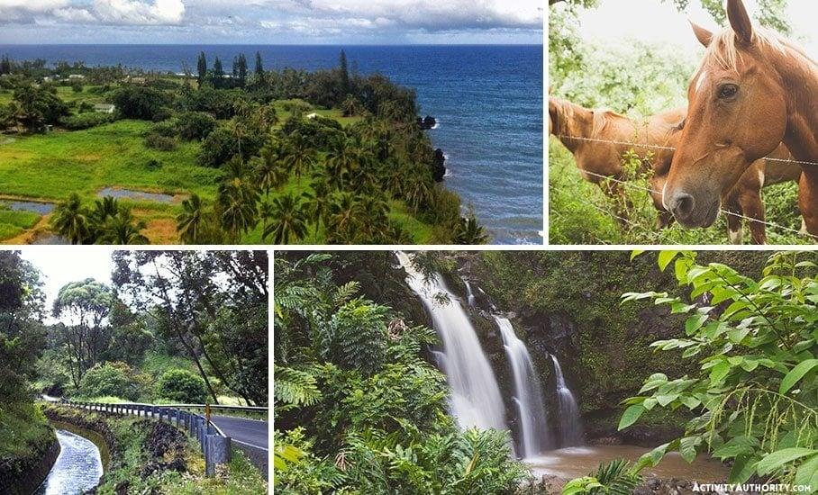 Waikani waterfalls of hana